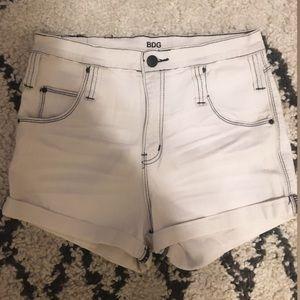 BDG White Shorts